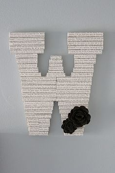 Little Things Bring Smiles: Book Letters. Book Letters, Monogram Letters, Letters And Numbers, Up Book, Book Pages, Book Art, Crafts To Do, Arts And Crafts, Paper Crafts