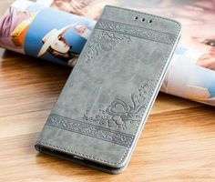 High Quality Leather Flip Cover Wallet Case for Iphone X and Other Models - for 7 Plus 8 Plus / Gray