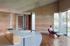 mexican architecture firm tatiana bilbao-  Those walls and tile floors are incredible.