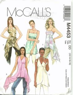 Sewing Pattern McCalls 4453 Misses Tunics 12-18