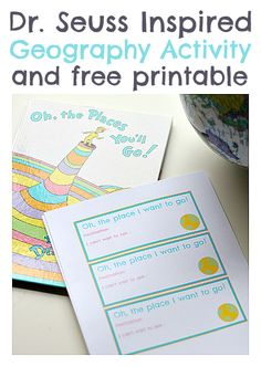 Celebrate Dr.Seuss with this great geography activity with FREE Printable!