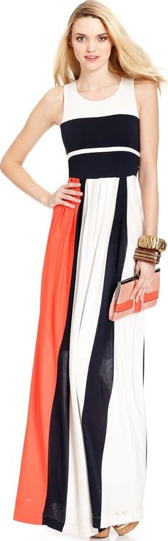 French Conntn Slevless Colorblock Maxi ♥✤ | Keep the Glamour | BeStayBeautiful