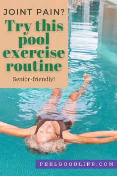 """10 Best """"Senior-Friendly"""" Pool Exercises to Ease Joint Pain & Build Strength - Knee Strengthening Exercises, Pool Exercises, How To Strengthen Knees, Knee Pain Relief, Arm Circles, Pool Workout, Low Impact Workout, Senior Fitness, Improve Posture"""