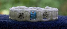 White Beaded Paracord Bracelet Size 7 by RainyDayzArt on Etsy, $12.50  https://www.etsy.com/listing/190912163/white-beaded-paracord-bracelet-size-7?ref=shop_home_feat_2