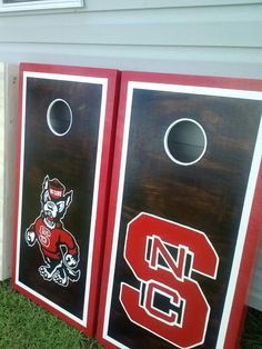 NC State on Dark Stain - $160 w/bags