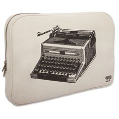 typewriter laptop case.  Wish I had my Grandfathers old typewriter.