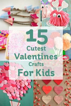 15 Cute Valentine's Day Crafts for Kids. Cutest Valentine's Crafts for Kids Valentines Day is fast approaching! I've pulled together a list of the cutest Valentines crafts for kids to try, with a little helping hand from Mum or Dad. Valentine's Day Crafts For Kids, Valentine Crafts For Kids, Valentines Day Activities, Valentines Day Party, Hobbies And Crafts, Holiday Crafts, Toddler Crafts, Valentine Box, Homemade Valentines