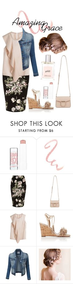 """""""Amazing Grace"""" by kaitydidwhat on Polyvore featuring Maybelline, River Island, Givenchy, Aquazzura and philosophy"""