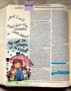 A Day in the life of a Country Mouse: Journaling Bible: Showers in their Season