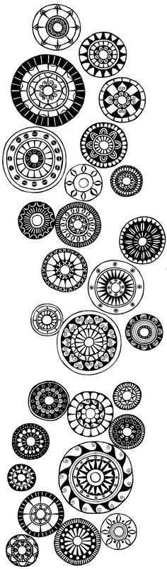 Round design doodles