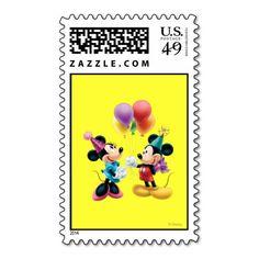 Mickey Mouse & Minnie Birthday Postage Stamp
