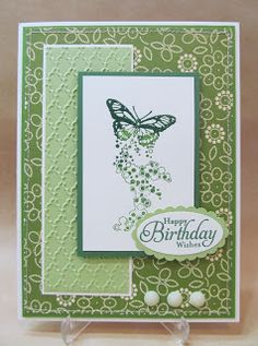 Savvy Handmade Cards: Green Butterfly Birthday Card