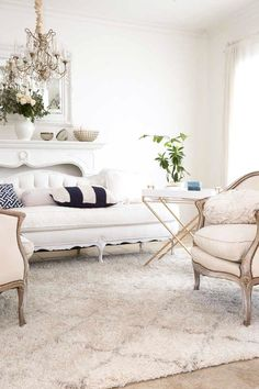 navy blue and white summer living room