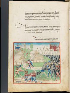 Bern, Burgerbibliothek, Mss.h.h.I.1, f. 420 – Diebold Schilling, Amtliche Berner Chronik, vol. 1