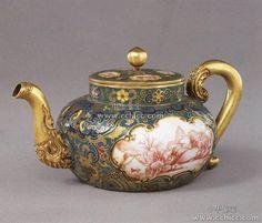 Chinese antique:Cloisonne teapot