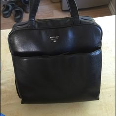 Mat&Nat Black Vegan Leather Purse In amazing condition, with only two very small scuffs. Will sell for less on mercari. Matt&Nat Bags Totes