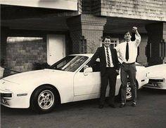 Steve Jobs Porsche 944 1 - Ferdinand Porsche Magazine - Craig Elliott with Steve Jobs, Porsche 944, Porsche 911 Turbo, New Porsche, Porsche Classic, Ferdinand Porsche, Ferrari F40, Steve Mcqueen, Gq, Volkswagen Touareg