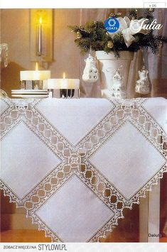 Crochet Neckwarmer - Learn How To Croch 319 - Diy Crafts - Marecipe Crochet Quilt, Crochet Tablecloth, Linen Tablecloth, Filet Crochet, Crochet Doilies, Crochet Lace, Tablecloths, Diy Crafts Knitting, Diy Crafts Crochet