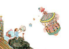 Colorhood - The Dream Machine by Cristiana Radu Dream Machine, Illuminated Manuscript, Her Style, Art Nouveau, Fine Art Prints, Illustrations, Drawings, Christians, Illustration