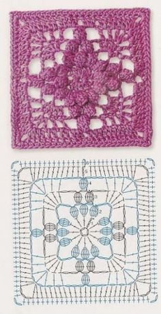Transcendent Crochet a Solid Granny Square Ideas. Inconceivable Crochet a Solid Granny Square Ideas. Motifs Granny Square, Granny Square Crochet Pattern, Crochet Blocks, Crochet Diagram, Crochet Chart, Crochet Squares, Crochet Stitches, Granny Squares, Marque-pages Au Crochet