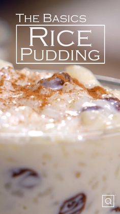 This stovetop rice pudding recipe is an easy dessert idea for a cozy, comforting dessert. What s better than homemade rice pudding with delicious cinnamon flavor this simple recipe video for the perfect, easy dessert. Stovetop Rice Pudding, Best Rice Pudding Recipe, Easy Rice Pudding, Easy Pudding Recipes, Pudding Desserts, Köstliche Desserts, Easy Cake Recipes, Baking Recipes, Coconut Pudding