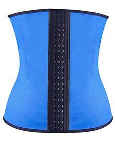 e290aca4dc040 IYISS Womens Body Shaper Waist Cincher Workout Trainer Corset Latex Waist  Trainer