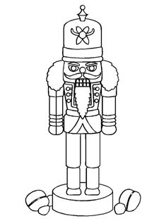 Nutcracker Coloring Page for Kids