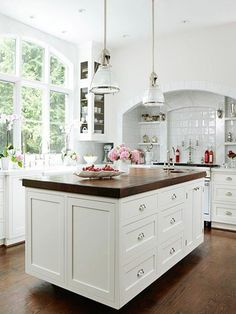 Hampton Style Kitchens - love anything Hamptons love the simplicity of this kitchen