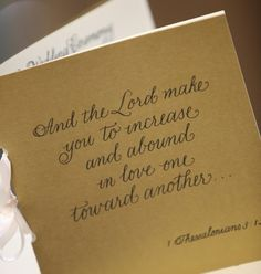 Love The Idea Of Putting A Quote Or Verse On Front Wedding ScriptureScripture QuotesWedding