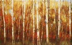 Birch Forest by Ella K Painting Print on Wrapped Canvas