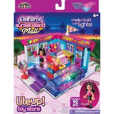 Amazon.com : Lite Brix Girls Sports Car : Toy Interlocking Building ...