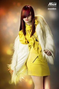 "KITSCH Cut & Color: Sanja Karasman for Varga Hair Internationals - Color System ""Subrina Professional"" Cut And Color, Kitsch, Hair Trends, Fur Coat, Jackets, Collection, Fashion, Down Jackets, Moda"