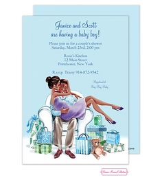 African American Baby Shower invitations NEW selections spring 2016