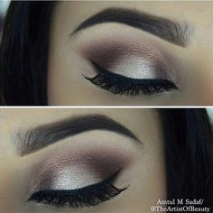 "2 Inspiring Makeup Looks - From theartistofbeauty using Eyeshadow in ""Fawn"" on the lid. motivescosmetics Eyeshadows in: Blizzard, Cappuccino, Caramel by lorenridinger. New Long Wear Concealer light yellow undertone"