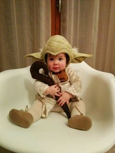 Stars Wars Yoda baby costume/ disfraz Maestro Yoda bebé diy