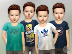 The Sims Resource: T-Shirt Toddler Boys P01by lillka • Sims 4 Downloads
