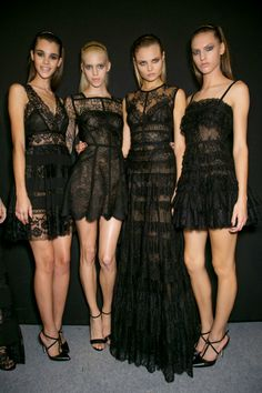 Elie Saab Black lace dresses Spring/Summer 2014 I love these! Wish I had the… …