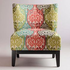 Superbe Rio Multicolored Ikat Darby Chair   Contemporary   Chairs   World Market