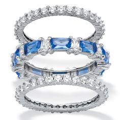 Nothing expresses your own unique personality and style like stackable eternity rings. With a mix of round and baguette--WTVR8sA8