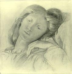 Sketch of Lizzie Siddal by Dante Gabriel Rossetti