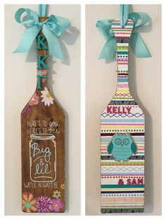 Paddle for my little! Kappa stained paddle flowers floral kkg owl patterned