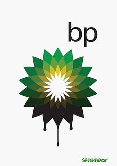 Greenpeace UK have set up a campaign to redesign the BP logo, to more accurately reflect its current tarnished status, as well as to raise awareness about the company's plans for extracting oil from Tar sands. Design brillance