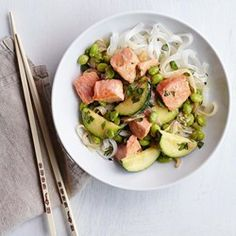 Edamame & Salmon Stir-Fry with Miso Butter - EatingWell.com