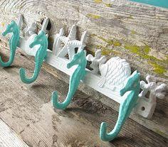 Seahorse Hook - Nautical Decor - Beach House Decor- Coastal Decor- Sea Hook Hanger/ Wedding Decor
