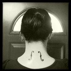 f hole tattoo, so, yes, i want.