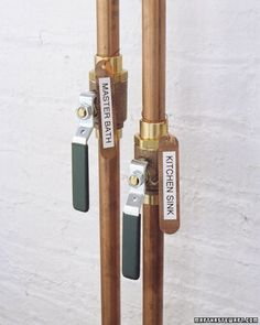 Labeling Pipes - Martha Stewart Home & Garden  Contact Hope at Apple A Day for a basement makeover sure to make your family and friends green with envy!   Web:  www.appleadayusa.org Email:  hope@appleadayusa.org Phone:  (845) 986-4416