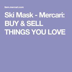 Ski Mask - Mercari: BUY & SELL THINGS YOU LOVE
