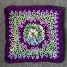 """Day 18: 12"""" Block of the Day - Fountain of Roses 12"""" Square by Shan Sevcik  Free Pattern: http://www.ravelry.com/patterns/library/fountain-of-roses-12-square  June 2013 #TheCrochetLounge #12""""Square Pick #crochet"""