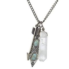 Lux Accessories Burnished Silver Boho Be Brave Keep Going Cluster Charm Necklace