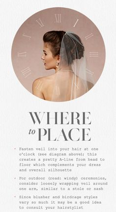 Where to Place Veils
